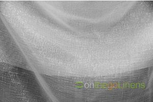Metallic Faux Sheer Linen Pipe and Drape Panels